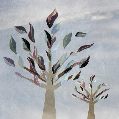 Family Trees with Colorful Leaves,, Vintage, Childhood-vipa21-Art Print