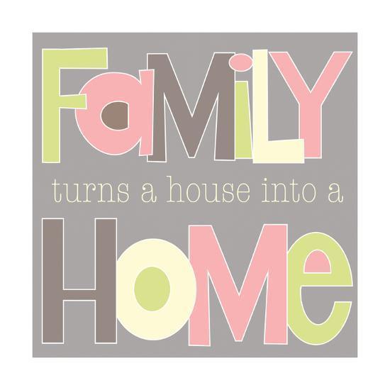 Family Turns a House-Alli Rogosich-Art Print