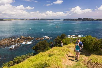 Family Walking on Tapeka Point, Russell, Northland Region, North Island, New Zealand, Pacific-Matthew Williams-Ellis-Photographic Print