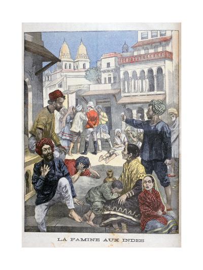 Famine in the India, 1900-Joseph Belon-Giclee Print