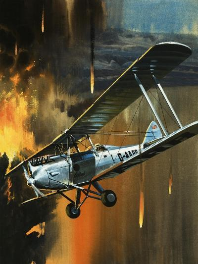 Famous Aircraft and Their Pilots: de Havilland Gipsy Moth - Jean Batten-Wilf Hardy-Giclee Print