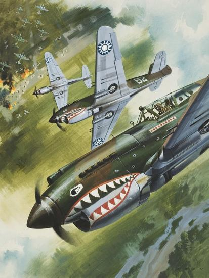 Famous Aircraft and their Pilots-Wilf Hardy-Giclee Print