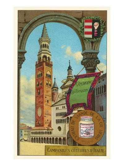 Famous Bell Towers of Italy, Cremona--Art Print