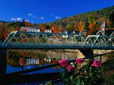 Famous Bridge of Flowers That Spans the Deerfield River in Shelburne Falls, Massachusetts-Charles Cook-Photographic Print