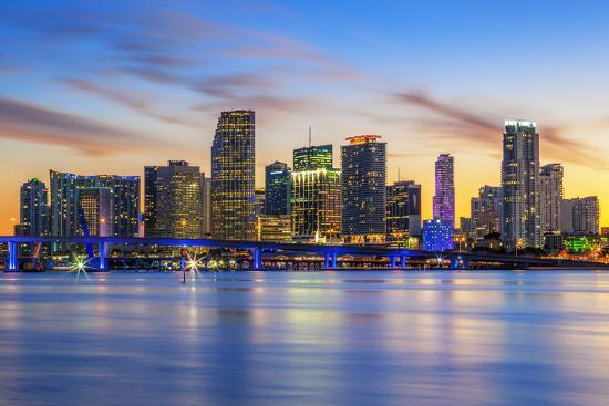 Famous City of Miami-prochasson-Photographic Print