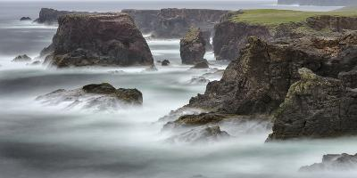Famous Cliffs and Sea Stacks of Esha Ness, Shetland Islands-Martin Zwick-Photographic Print