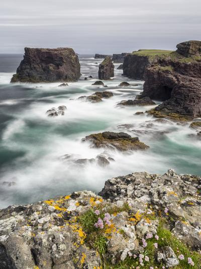 Famous Cliffs and Sea Stacks of Esha Ness, Shetland Islands-Martin Zwick-Photographic Print