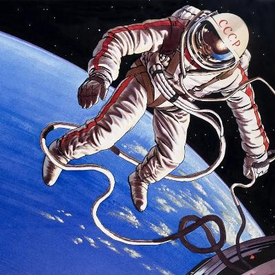 Famous Firsts: Space-Walk!-Wilf Hardy-Giclee Print