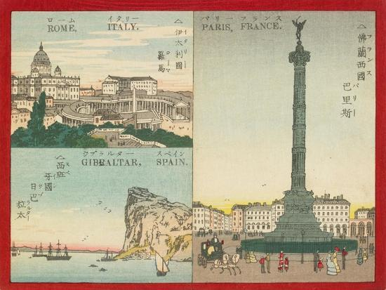 Famous Places in the World - European Cities, 1887--Giclee Print