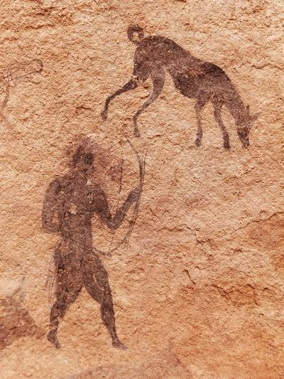 Famous Prehistoric Rock Paintings Of Tassili N'Ajjer, Algeria-DmitryP-Art Print