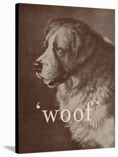 Famous Quote Dog-Florent Bodart-Stretched Canvas Print