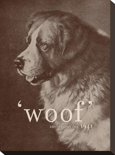 Famous Quote Dog-Florent Bodart-Stretched Canvas Print
