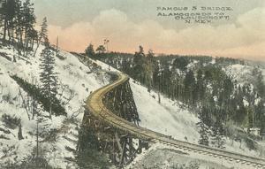 Famous S Railway Bridge, Cloudcroft, New Mexico