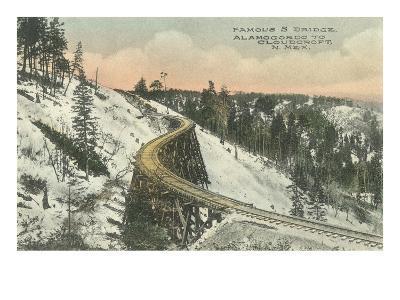 Famous S Railway Bridge, Cloudcroft, New Mexico--Art Print
