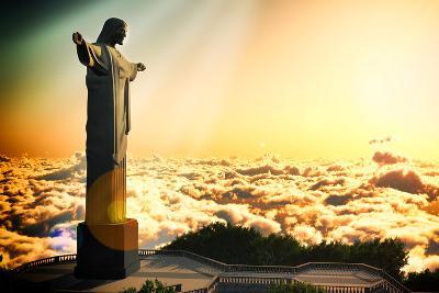 Famous Statue Of The Christ The Reedemer, In Rio De Janeiro, Brazil-Satori1312-Art Print