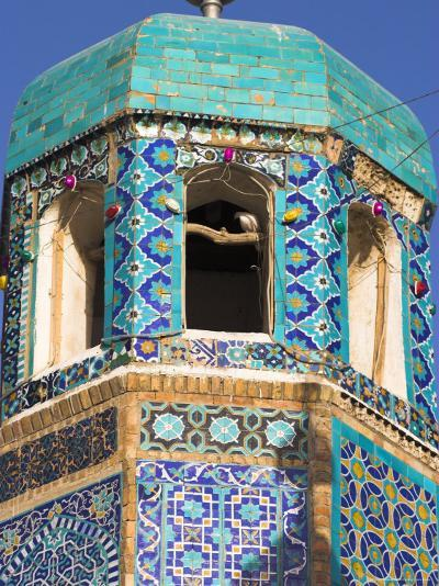 Famous White Pigeon in Minaret, Who was Assassinated in 661, Afghanistan-Jane Sweeney-Photographic Print