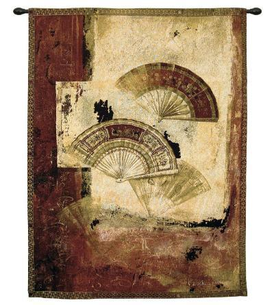 Fan Abstract-Fabrice De Villeneuve-Wall Tapestry