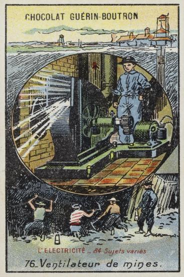 Fan for Ventilating Mines--Giclee Print