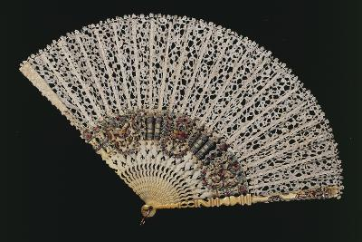 Fan with Bobbin Lace Page, Beginning 1700s, and Ribs of Later Period--Giclee Print