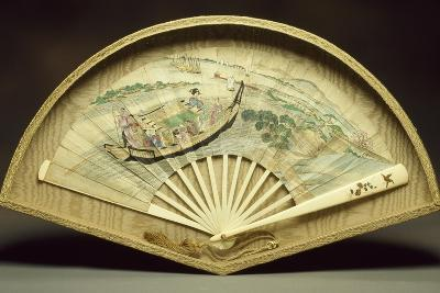 Fan with Ivory Guard and Slats--Giclee Print