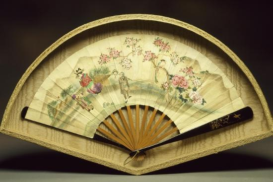 Fan with Wooden Slats--Giclee Print