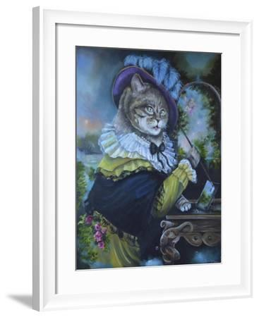 Fancy a Cat Painting-Sue Clyne-Framed Giclee Print