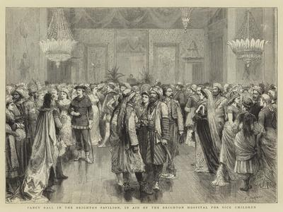 Fancy Ball in the Brighton Pavilion, in Aid of the Brighton Hospital for Sick Children-Godefroy Durand-Giclee Print