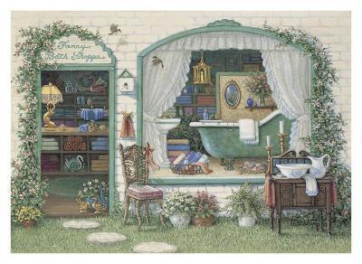 Fancy Bath Shoppe-Janet Kruskamp-Art Print