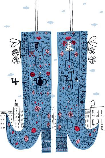 Fancy Boots-Melinda Beck-Art Print