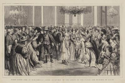 Fancy Dress Ball at Marlborough House, Reception of the Guests by the Prince and Princess of Wales-Godefroy Durand-Giclee Print