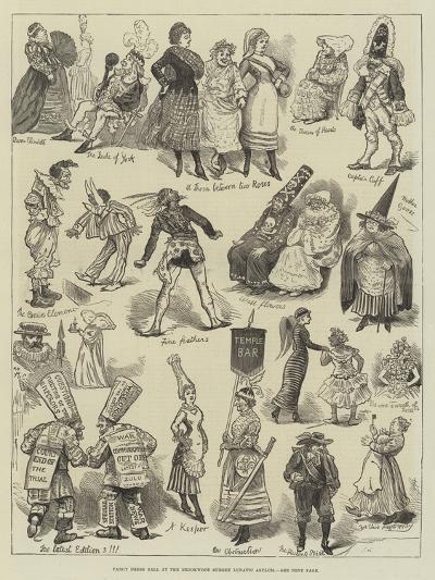 Fancy Dress Ball at the Brookwood Surrey Lunatic Asylum--Giclee Print