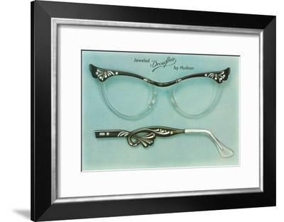 Fancy Eyeglass Frames--Framed Art Print