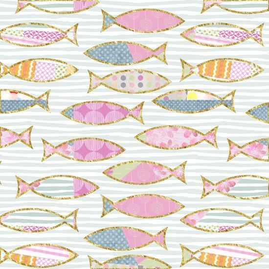 Fancy Fish - Square-Lebens Art-Art Print