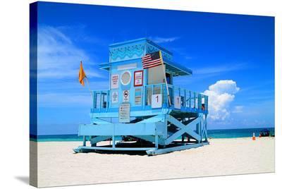 Fancy Lifeguard Hut N. Miami--Stretched Canvas Print