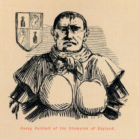 'Fancy Portrait of the Champion of England', c1860, (c1860)-John Leech-Giclee Print