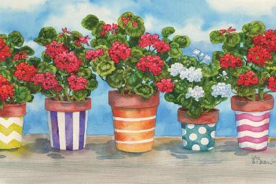 Fancy Pots Geraniums-Paul Brent-Art Print