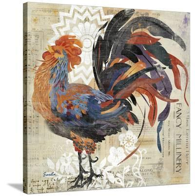 Fancy Rooster--Stretched Canvas Print
