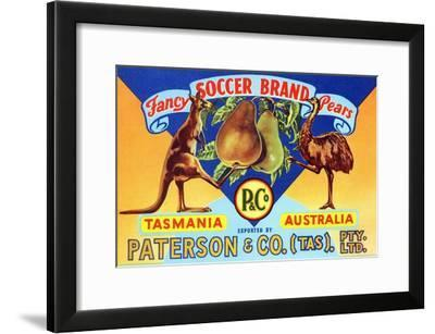 Fancy Soccer Brand Pears--Framed Art Print