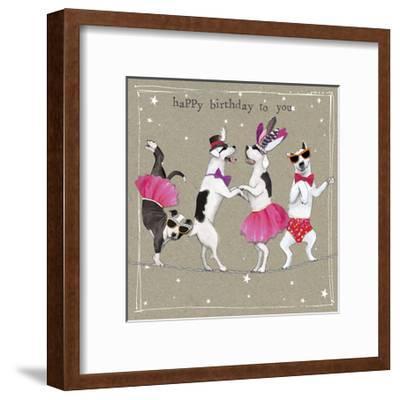 Fancypants Cool Dogs X-Hammond Gower-Framed Art Print