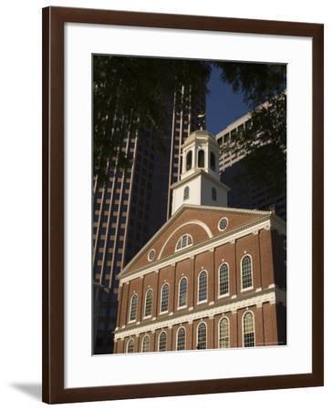 Faneuil Hall, Boston, Massachusetts, USA-Amanda Hall-Framed Photographic Print