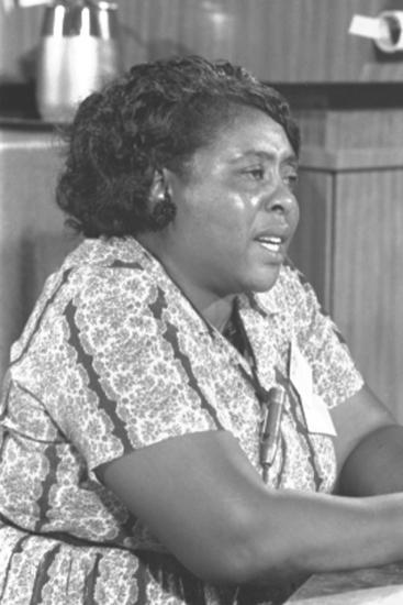 Fannie Lou Hamer, African-American Civil Rights Leader in 1964--Photo