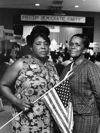 Fannie Lou Hammer and Ella Baker-Maurice Sorrell-Photographic Print