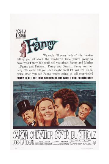 Fanny, from Left: Maurice Chevalier, Leslie Caron, Horst Buchholz, Charles Boyer, 1961--Art Print