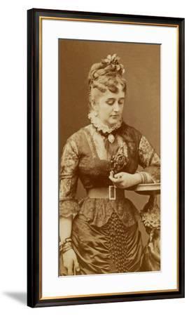 Fanny Lear, c.1875-Charles Reutlinger-Framed Premium Photographic Print