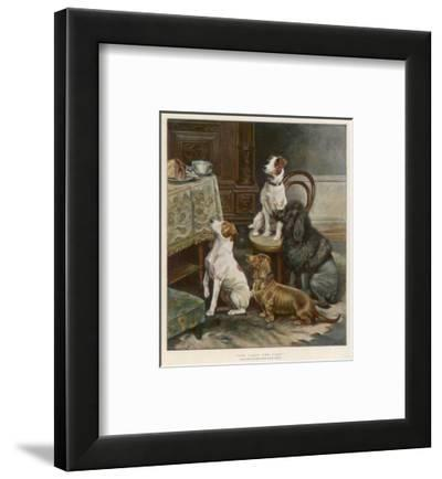 Four Dogs Lust after Their Owners' Food by Fanny Moody