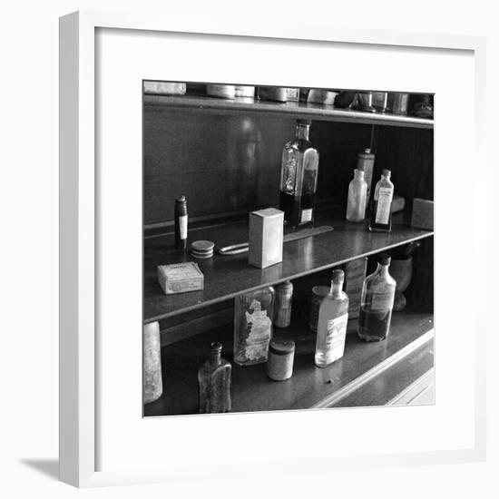 Fanny's Medicine Cabinet, Villa Vailima, Apia, Samoa--Framed Photographic Print