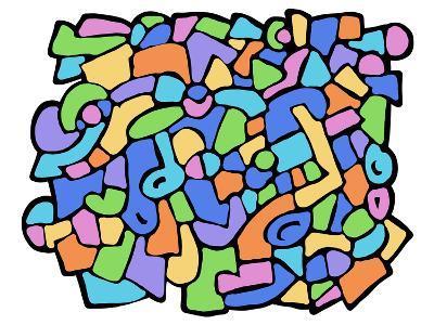 Fantasia Colorata-goccedicolore-Art Print