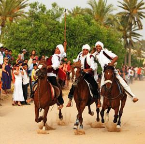 Fantasia, equestrian games in Midoun, Jerba Island, Medenine, Tunisia