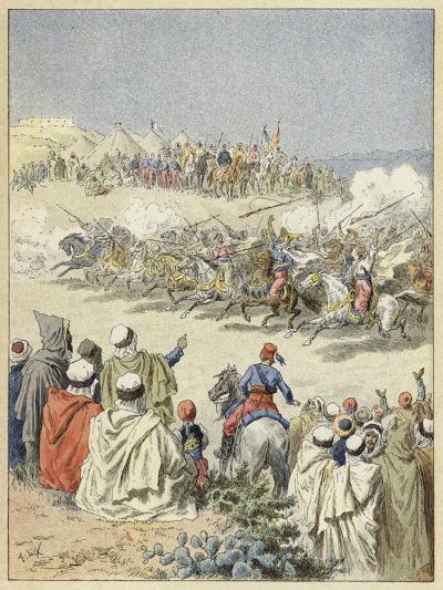 Fantasia, Traditional Berber Display of Horsemanship, North Africa--Giclee Print