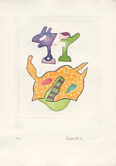 Fantasiewesen Schwebendes Pferd B, c.1974-Otmar Alt-Collectable Print